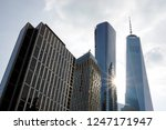 a low angle view of skyscrapers ... | Shutterstock . vector #1247171947