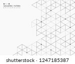 abstract of black square... | Shutterstock .eps vector #1247185387