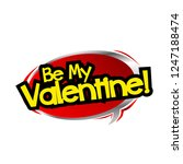 be my valentine label with red... | Shutterstock .eps vector #1247188474