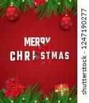 merry christmas background.    Shutterstock .eps vector #1247190277