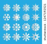 set of vector snowflakes icon...   Shutterstock .eps vector #1247192521