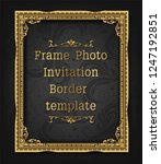 decorative vintage frame and... | Shutterstock .eps vector #1247192851