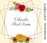 watercolor floral ornament for... | Shutterstock .eps vector #1247198074