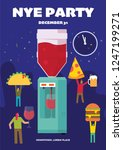 new year eve party vector... | Shutterstock .eps vector #1247199271