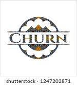 churn arabesque style badge.... | Shutterstock .eps vector #1247202871
