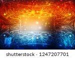 digital abstract technology... | Shutterstock . vector #1247207701