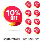 sale tags set vector badges... | Shutterstock .eps vector #1247208724