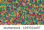 huge pile of colorful coated... | Shutterstock . vector #1247221657