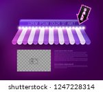 awning with sale arrow retro... | Shutterstock .eps vector #1247228314