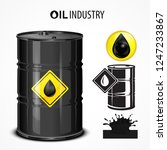 oil industrial  oil barrel ... | Shutterstock .eps vector #1247233867