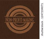 non profit making wooden emblem.... | Shutterstock .eps vector #1247234071