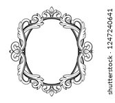 ornamental vintage frame in... | Shutterstock .eps vector #1247240641