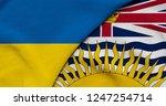 flag of ukraine and british... | Shutterstock . vector #1247254714