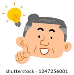 senior men flashing middle aged ... | Shutterstock .eps vector #1247256001