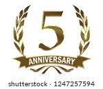 5th anniversary logo of... | Shutterstock . vector #1247257594
