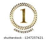 first anniversary logo of... | Shutterstock . vector #1247257621