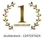 first anniversary logo of... | Shutterstock . vector #1247257624