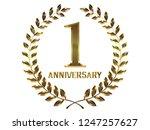 first anniversary logo of... | Shutterstock . vector #1247257627