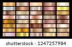 metallic gradient collection... | Shutterstock .eps vector #1247257984