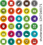 white solid icon set  welcome... | Shutterstock .eps vector #1247260171