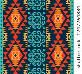 navajo style background  ethnic ... | Shutterstock .eps vector #1247264884