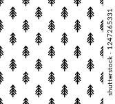 black line fir trees  on white... | Shutterstock .eps vector #1247265331
