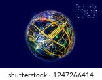 5g network wireless systems and ... | Shutterstock . vector #1247266414