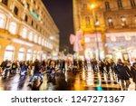 crowd of people walking on...   Shutterstock . vector #1247271367