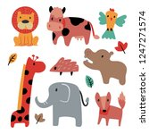 animals collection vector design | Shutterstock .eps vector #1247271574