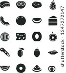 solid black vector icon set  ... | Shutterstock .eps vector #1247272147