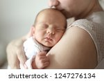 mom and newborn baby. light...   Shutterstock . vector #1247276134
