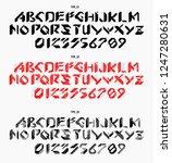 futuristic font in geometric...