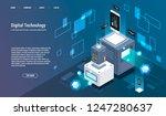 computation of big data center  ... | Shutterstock .eps vector #1247280637