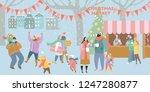 illustration of a christmas... | Shutterstock .eps vector #1247280877
