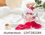 homemade body scrub with salt ... | Shutterstock . vector #1247282284