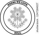 dill herb pixel perfect logo... | Shutterstock .eps vector #1247284027