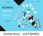 business success concept banner ... | Shutterstock .eps vector #1247284801