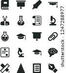 solid black vector icon set  ... | Shutterstock .eps vector #1247288977