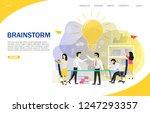 brainstorm landing page website ... | Shutterstock .eps vector #1247293357