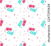 vector seamless pattern with...   Shutterstock .eps vector #1247295634