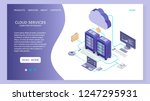 cloud services landing page... | Shutterstock .eps vector #1247295931