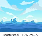 ocean surface wave seamless.... | Shutterstock .eps vector #1247298877