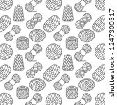 knitted seamless pattern of... | Shutterstock . vector #1247300317
