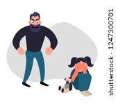 family violence and aggression... | Shutterstock . vector #1247300701