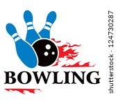 bowling symbol | Shutterstock .eps vector #124730287