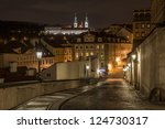 Night Street View Of Old Town...