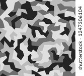 geometric camouflage background.... | Shutterstock .eps vector #1247306104