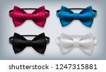 bow tie set vector. realistic... | Shutterstock .eps vector #1247315881