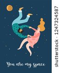 romantic illustration with... | Shutterstock .eps vector #1247324587