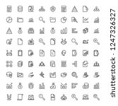 statistics icon set. collection ...   Shutterstock .eps vector #1247326327
